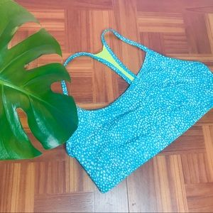 Champion Spotted Blue Green Reversible Sports Bra